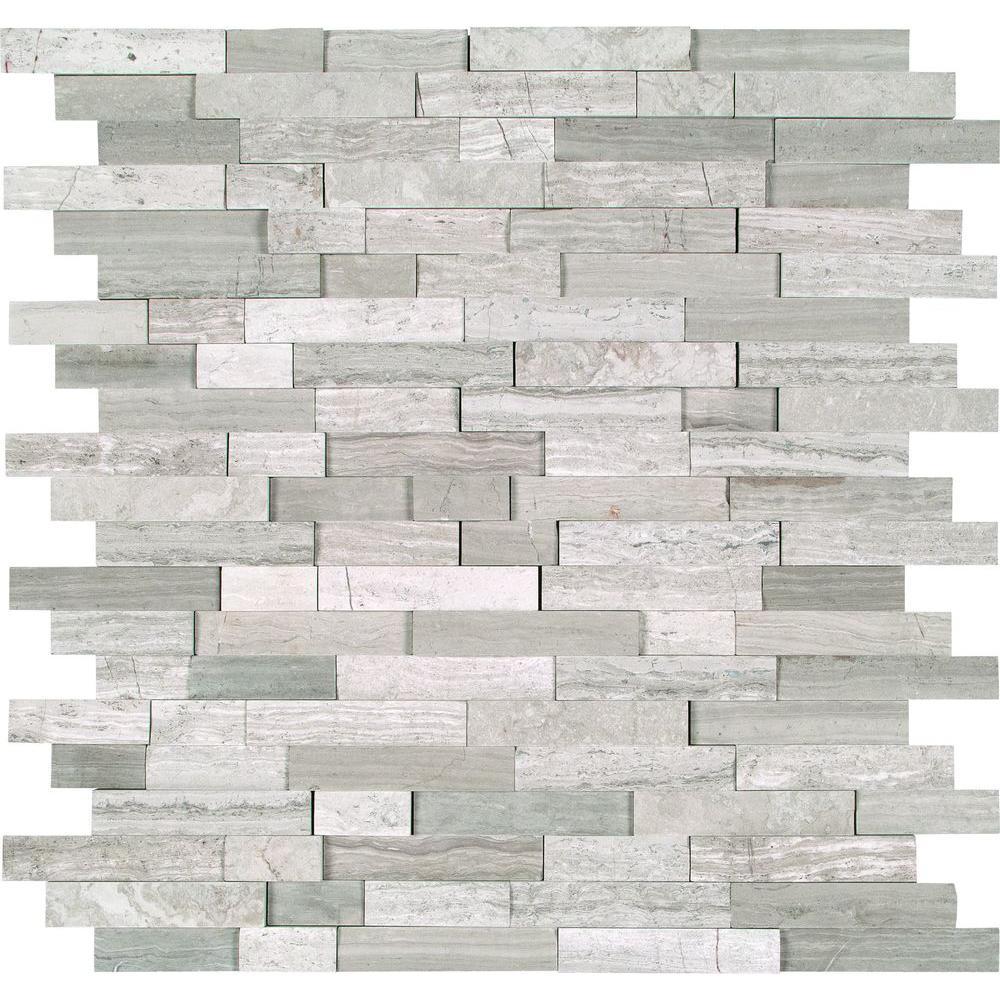 MS International White Quarry Splitface 12 in. x 12 in. x 10 mm ...