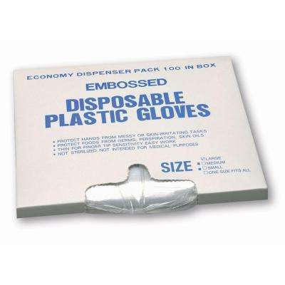 Polyethylene Industrial Use Disposable Gloves, Medium - 100 Ct. Box, sold by the case