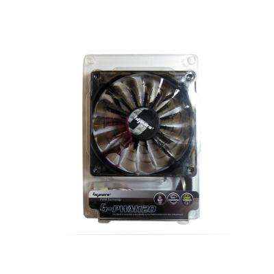 b-PWM 120 mm 2 Ball Bearing PWM 12-Volt DC Fan, Black