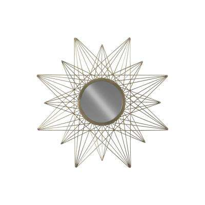 Round Champagne Coated Wall Mirror
