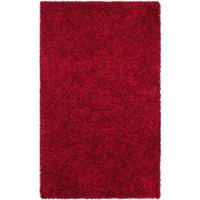 Monterey Shag Red 6 ft. x 9 ft. Area Rug