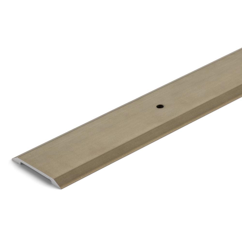Satin Nickel 1-3/8 in. x 72 in. Aluminum Seam Binder Transition Strip