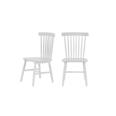 StyleWell White Wood Windsor Dining Chair (Set of 2) (19.50 in. W x 35 in. H)