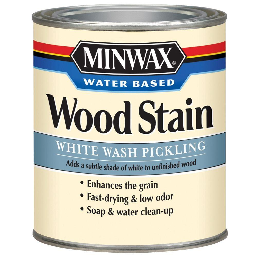 Minwax 1 qt. White Wash Pickling Water Based Wood Stain