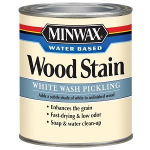 1 qt. White Wash Pickling Water Based Wood Stain
