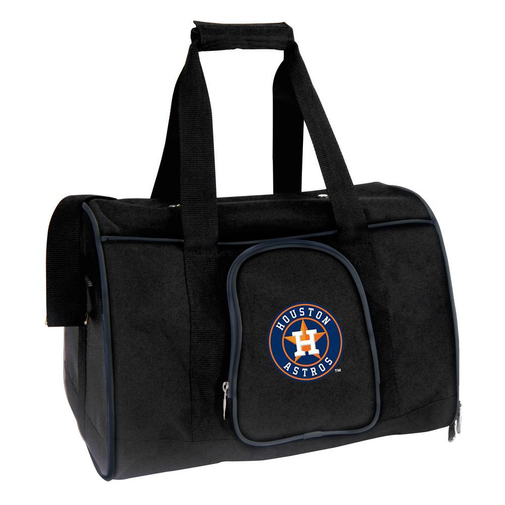 MLB Houston Astros Pet Carrier Premium 16 in. Bag in Navy