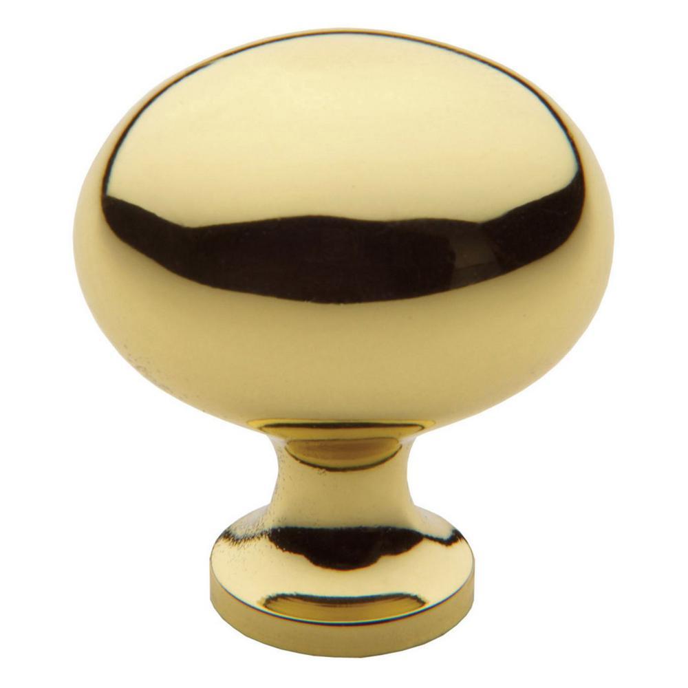 Baldwin Oval 1.375 In. Polished Brass Cabinet Knob-4913