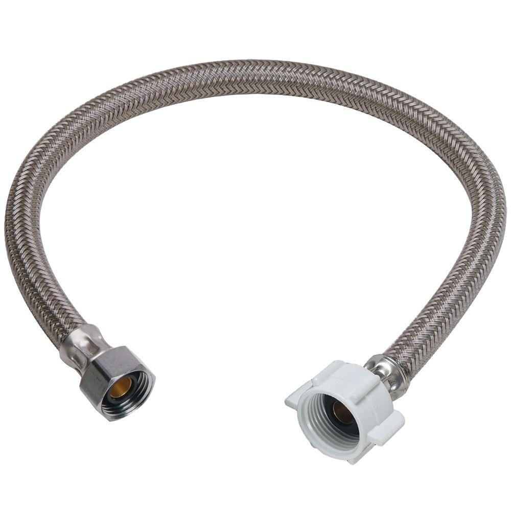 null 1/2 in. Compression x 7/8 in. Ballcock Nut x 20 in. Braided Polymer Toilet Connector