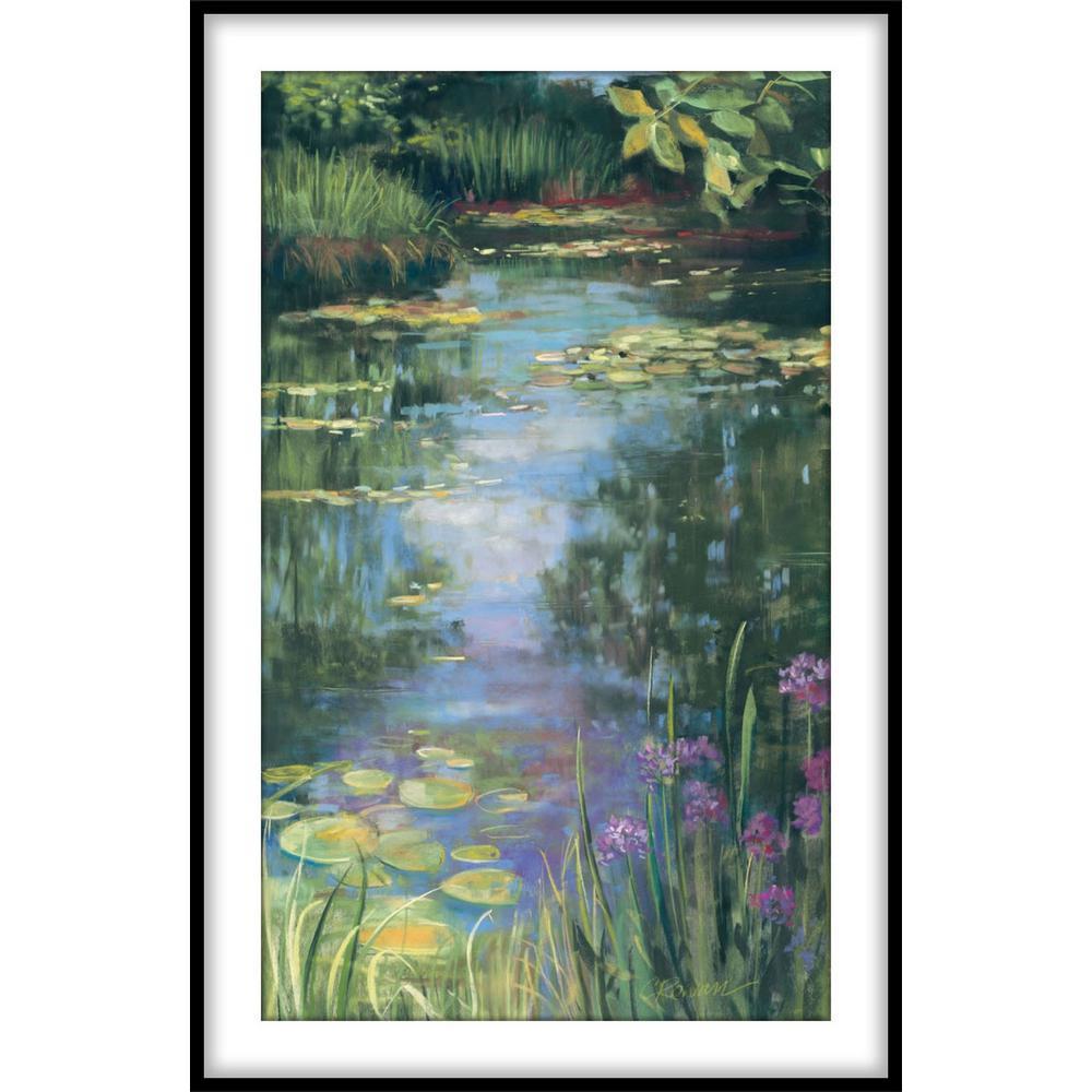 "9.75 in. x11.75 in. ""Garden Pond I""Framed Wall Art"