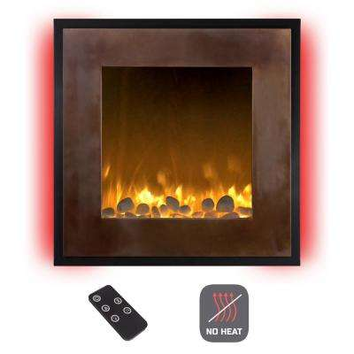 24 in. Wall Mount No Heat Electric Fireplace in Bronze/Black