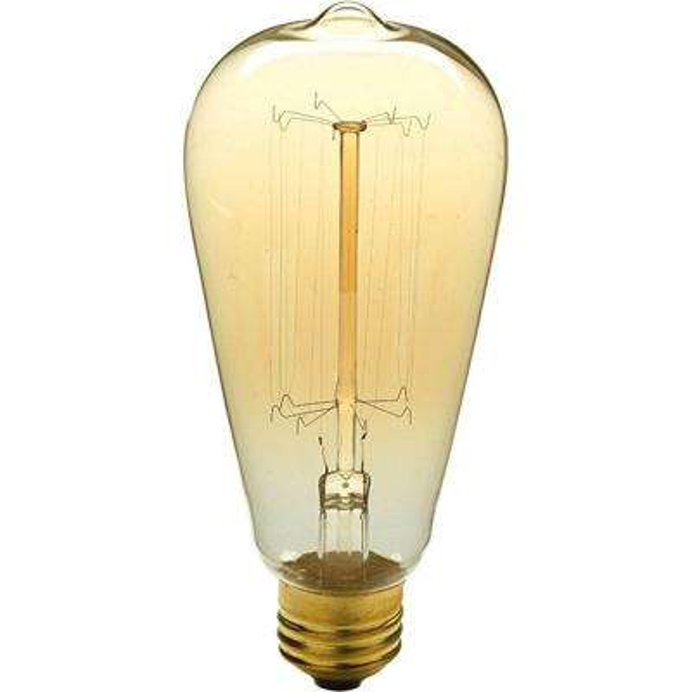 40-Watt ST64 Edison E26 Medium Base Vintage Amber Incandescent Light Bulb Warm White