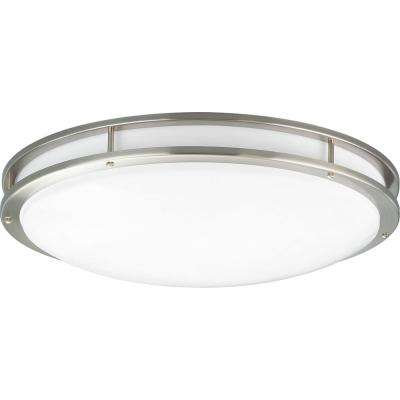 31.25 in. CTC COMM Collection 52 -Watt Brushed Nickel Integrated LED Flushmount