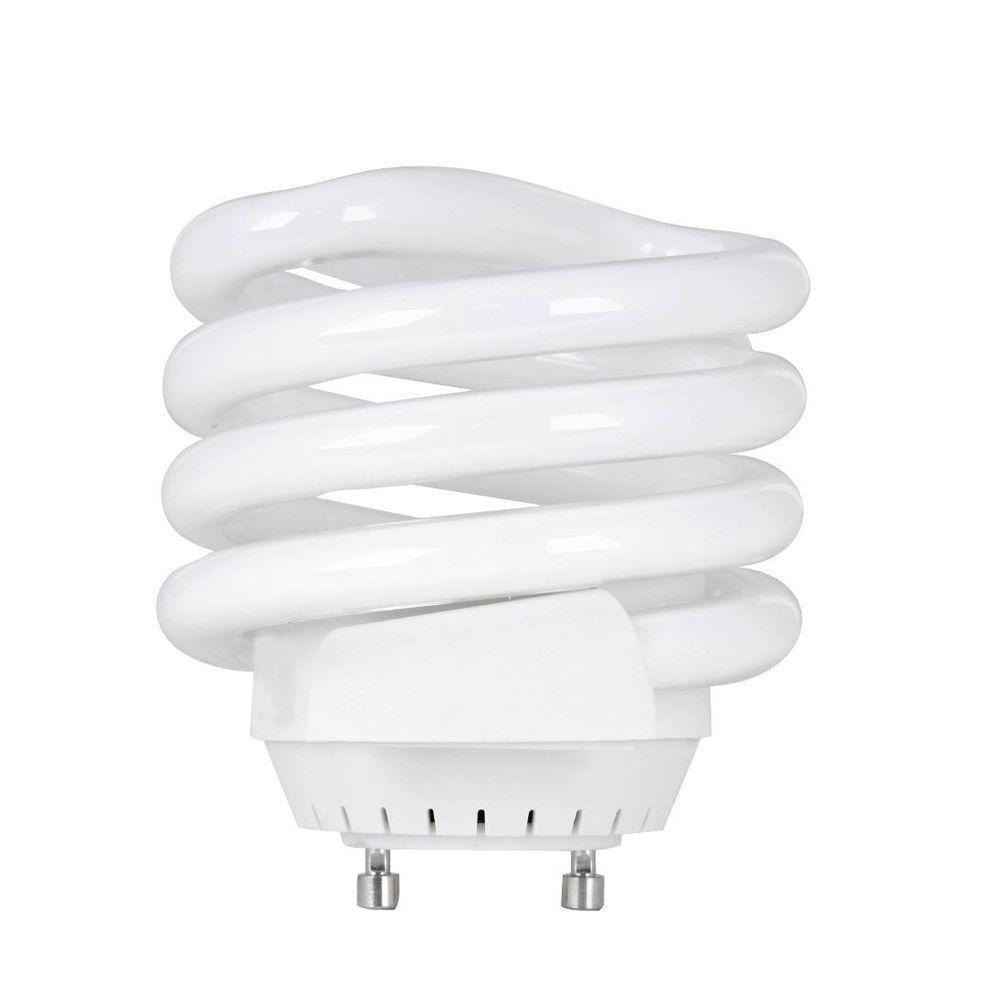 100W Equivalent Soft White (2700K) Spiral Squat GU24 Base CFL Light