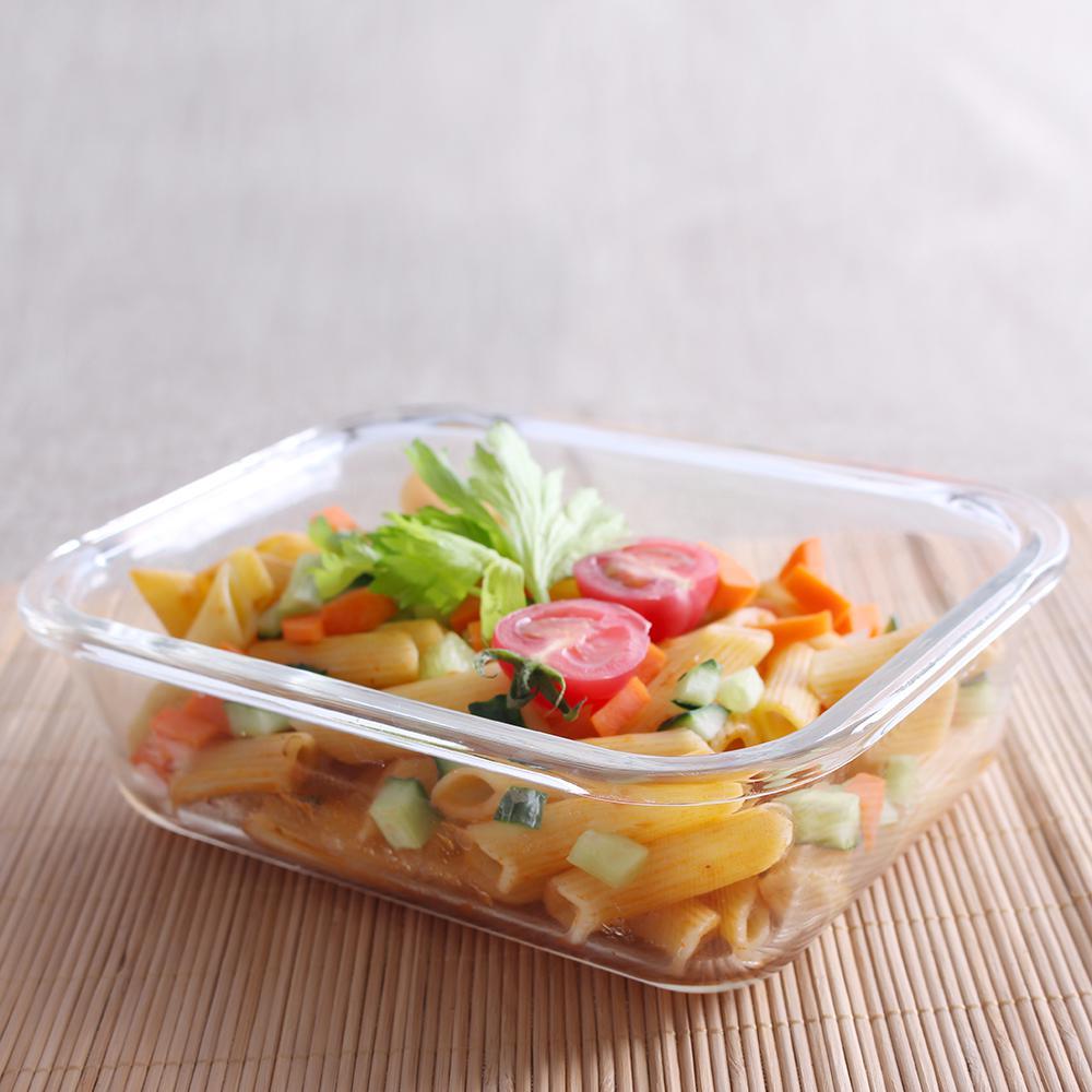 Home Basics Square Borosilicate Glass Food Storage Container SC45331