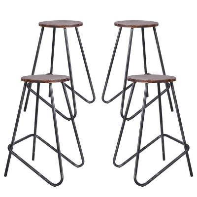 Elise Silver Brushed Gray Barstool (Set of 4)