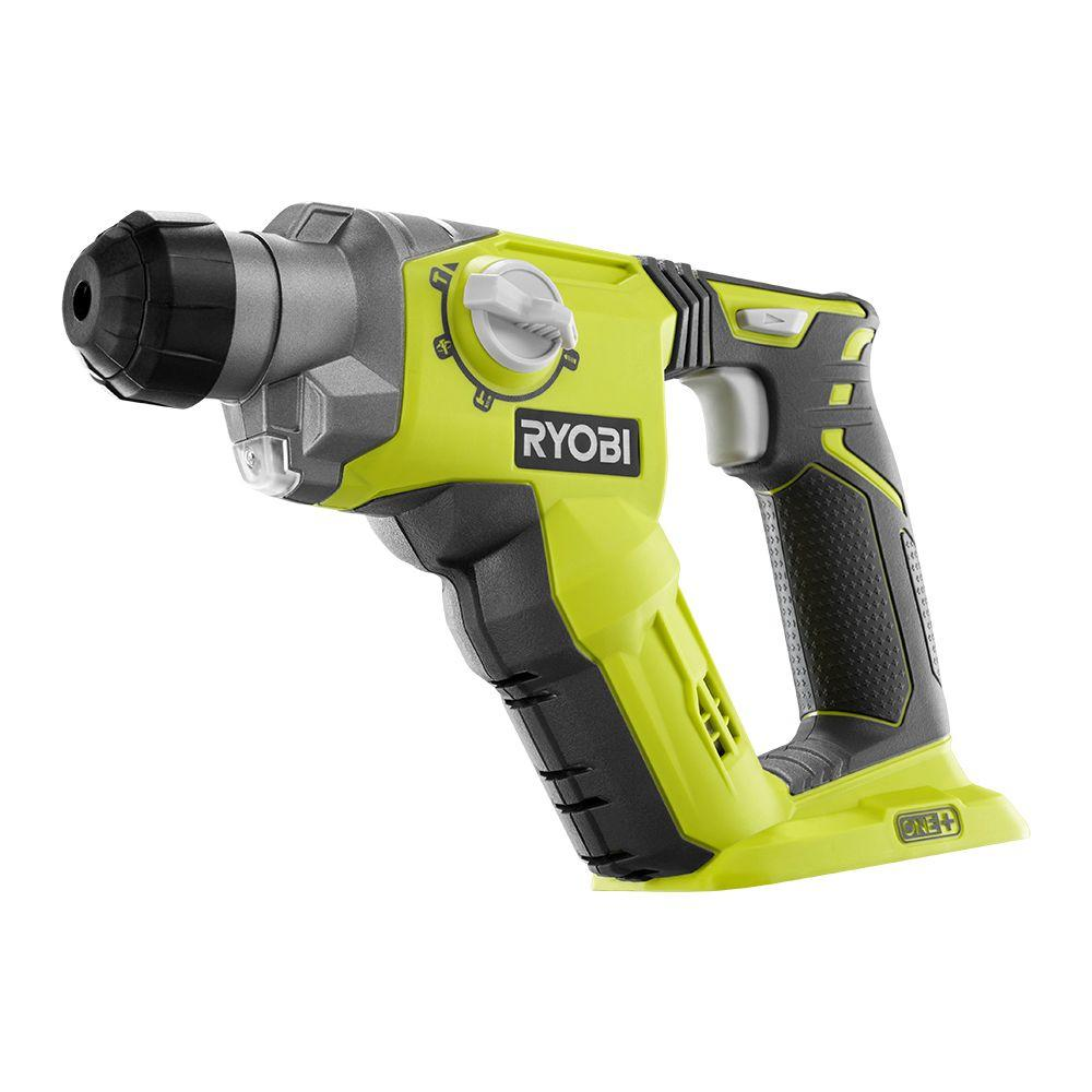 ryobi 18 volt one 1 2 in cordless sds plus rotary hammer drill p222 the home depot. Black Bedroom Furniture Sets. Home Design Ideas