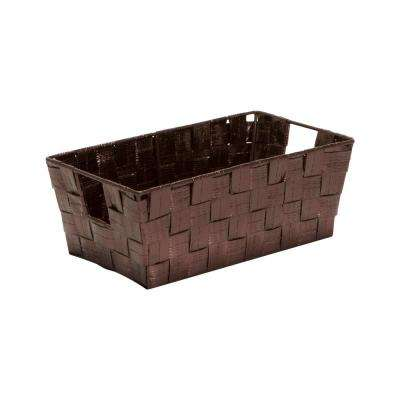 6.5 in. x 11.4 in. x 4.50 in. Small Shelf Storage Bin in Metallic Bronze