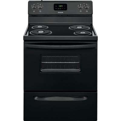 30 in. 4.8 cu. ft. Electric Range in Black