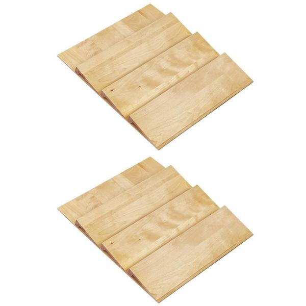24 in. Maple Spice Drawer Storage Organizer Insert (2-Pack)
