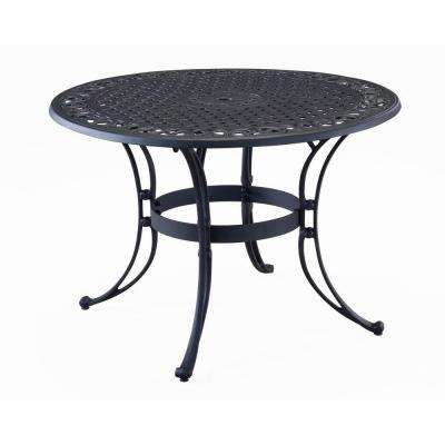 Biscayne 42 in. Black Round Patio Dining Table