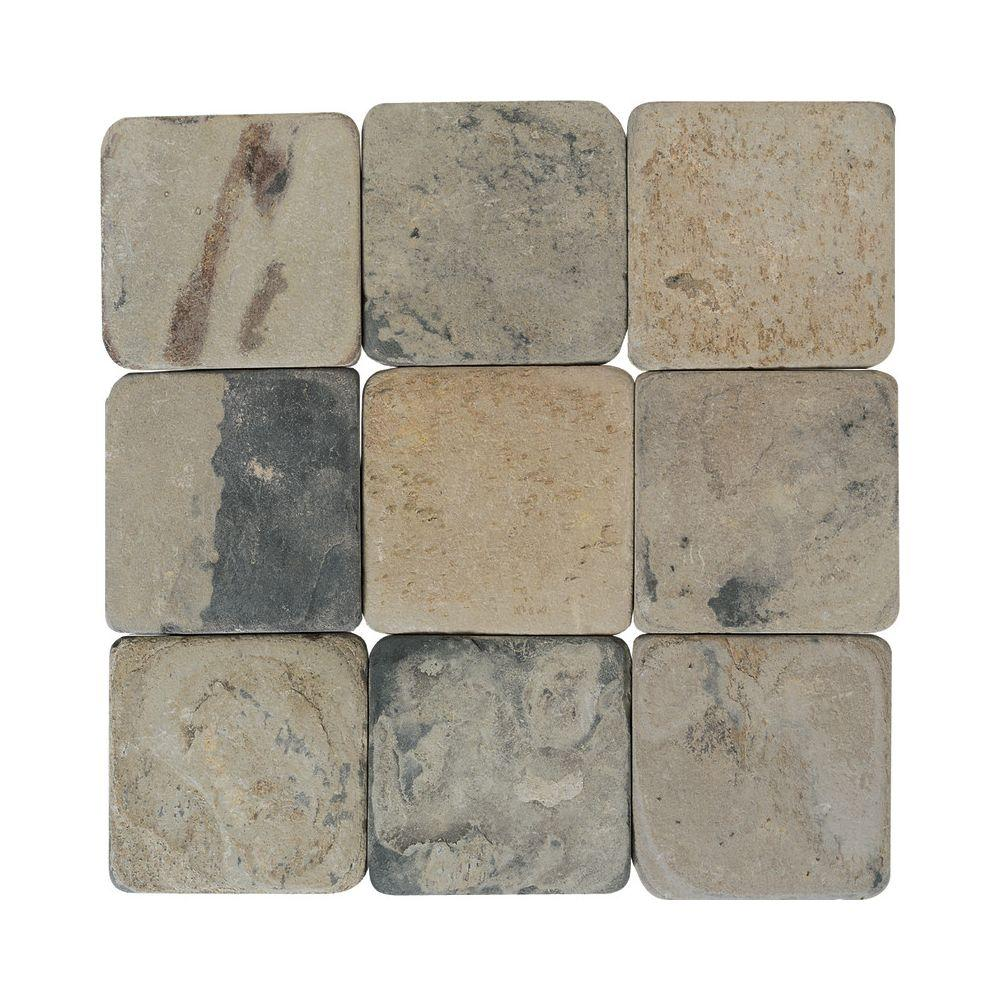 Daltile Travertine Copper 6 in. x 6 in. Slate Floor and Wall Tile (6 sq. ft. / case)
