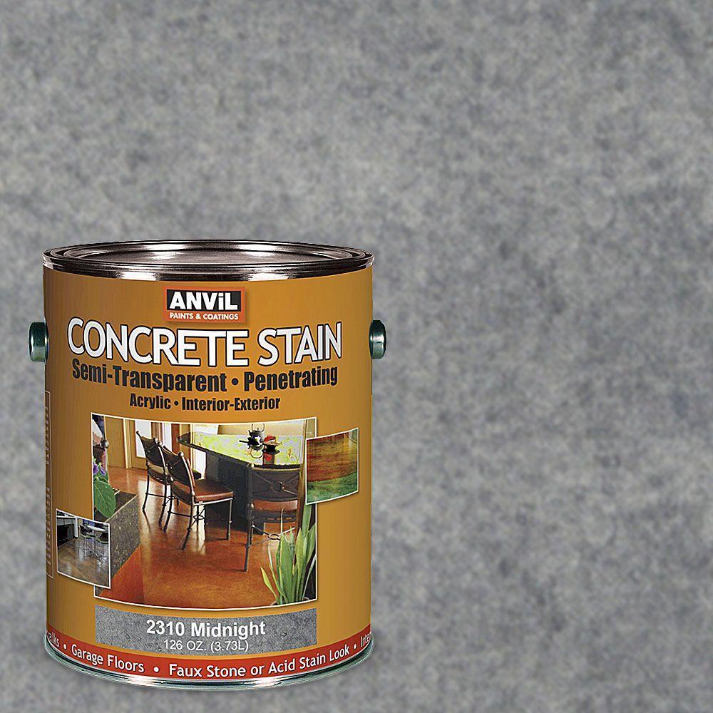 ANViL 1-gal. Midnight Semi-Transparent/Translucent Concrete Stain