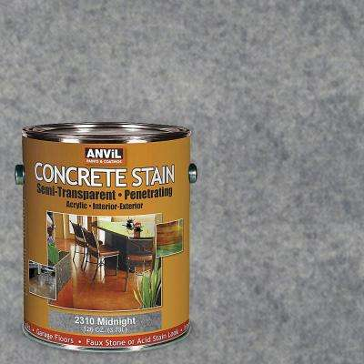 1-gal. Midnight Semi-Transparent/Translucent Concrete Stain