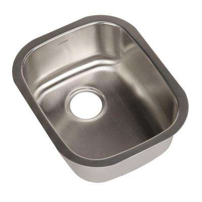 Club Series Undermount Stainless Steel 15 in. Single Bowl Kitchen Sink in Brushed Satin