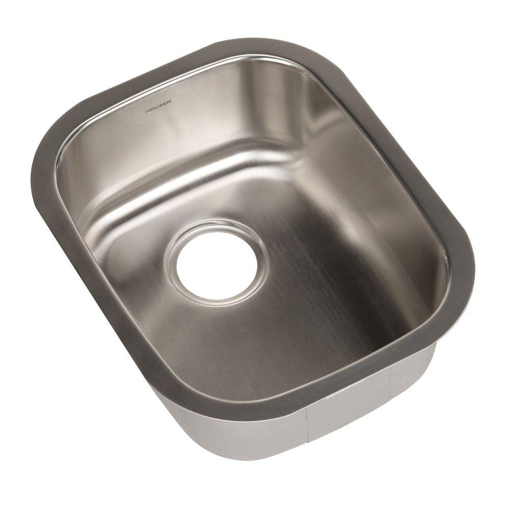 HOUZER Club Series Undermount 15 In. Single Bowl Bar/Prep Sink CS 1607    The Home Depot