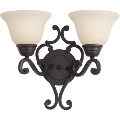 Manor 2-Light Oil Rubbed Bronze Wall Sconce