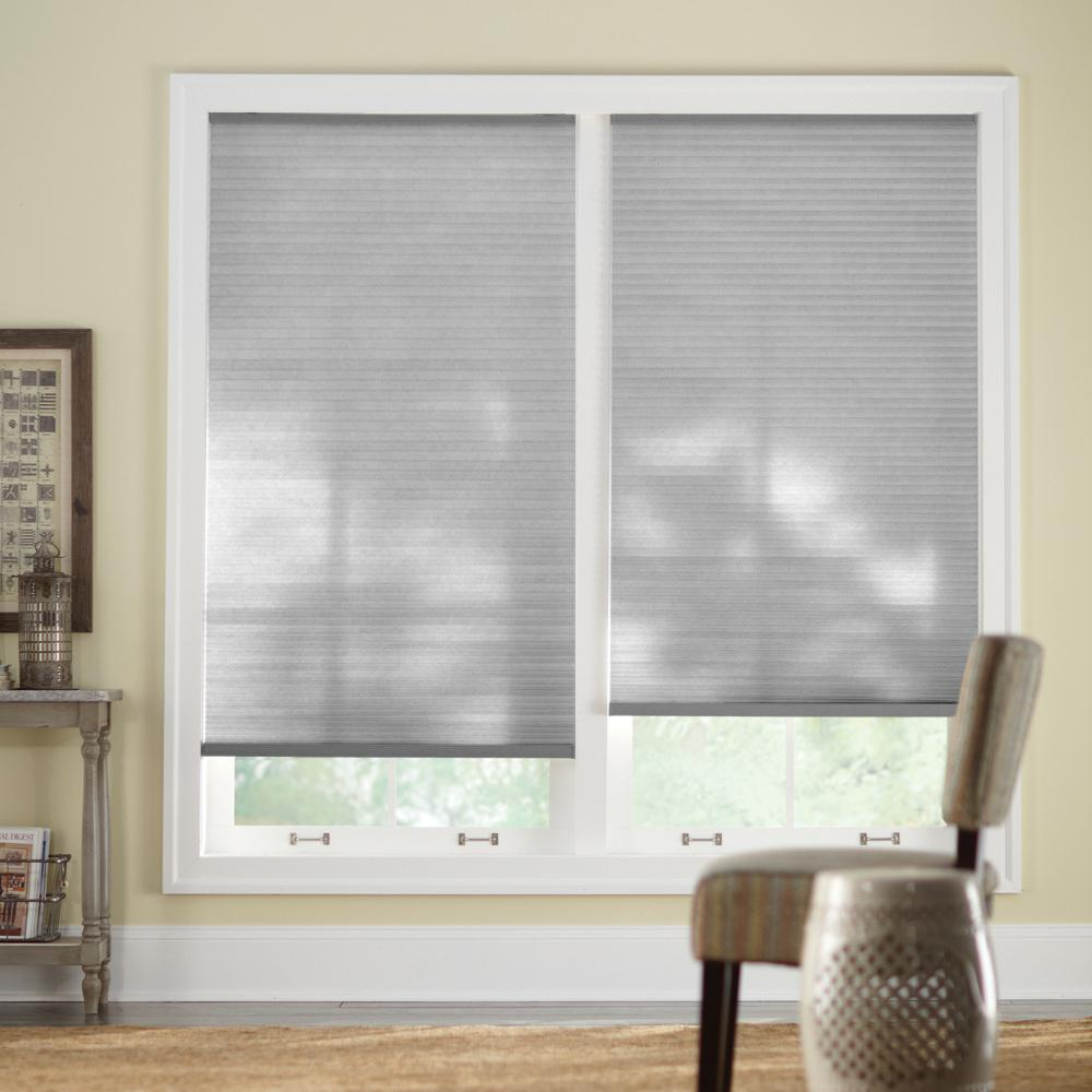 Home Decorators Collection 55 In W X 72 In L Misty Gray Cordless Light Filtering Horizontal