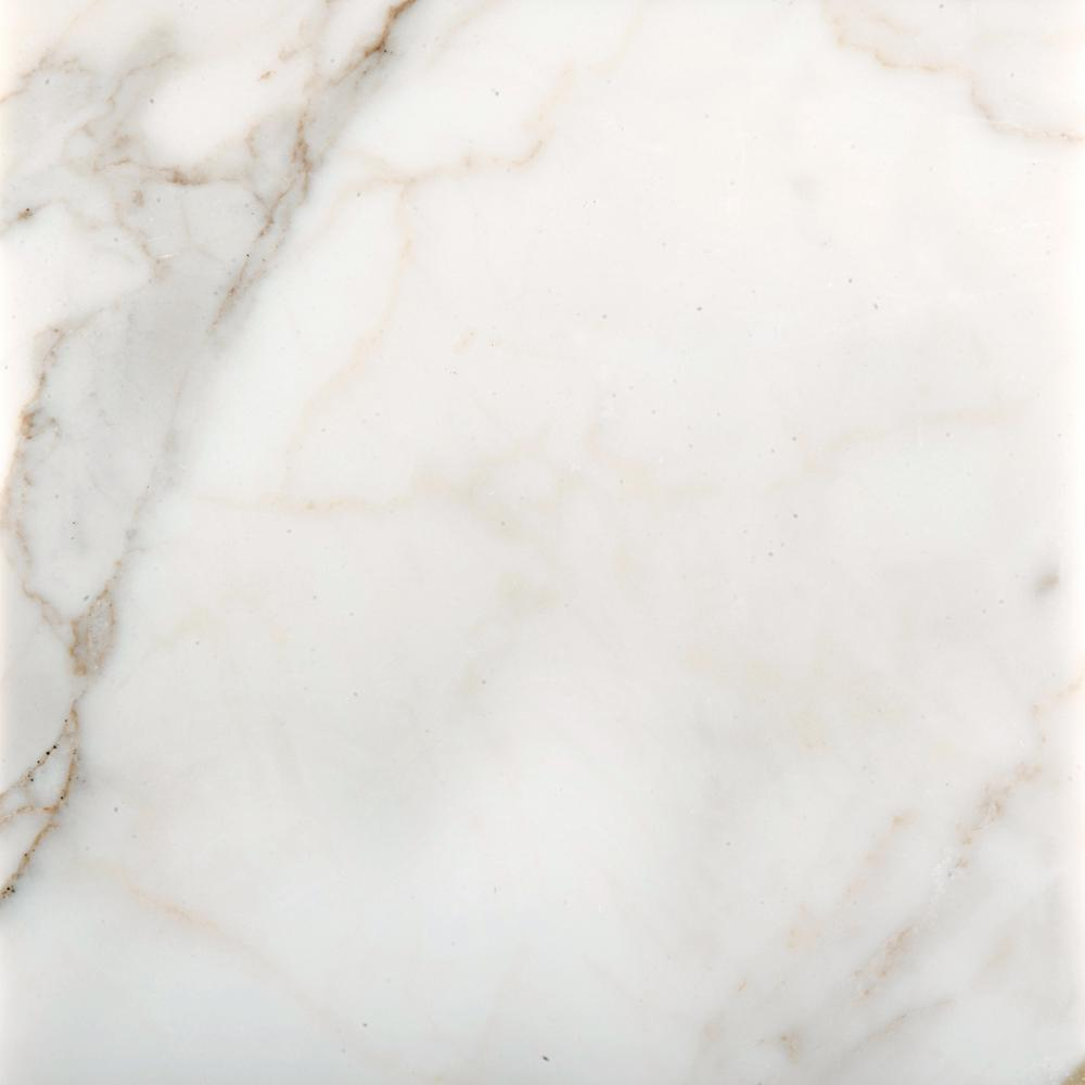 Marble Calacata Oro Polished 17.99 in. x 17.99 in. Marble Floor