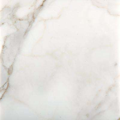 Marble Calacata Oro Polished 17.99 in. x 17.99 in. Marble Floor and Wall Tile
