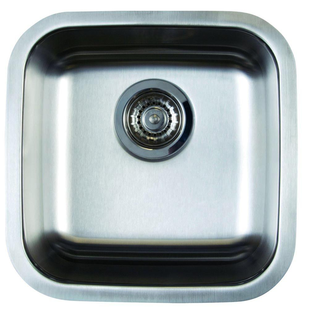 Bon Stellar Undermount Stainless Steel 15 In. Single Bowl Bar Sink