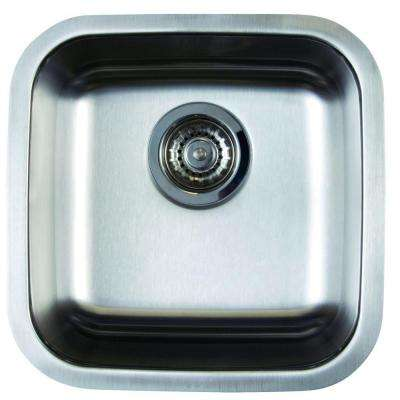 Stellar Undermount Stainless Steel 15 In. Single Bowl Bar Sink