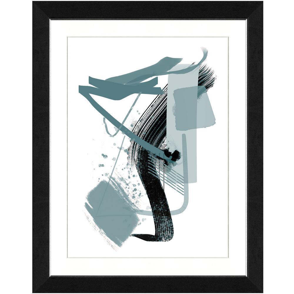 22 in. x 28 in. Calming grays II Framed Archival Paper Wall Art