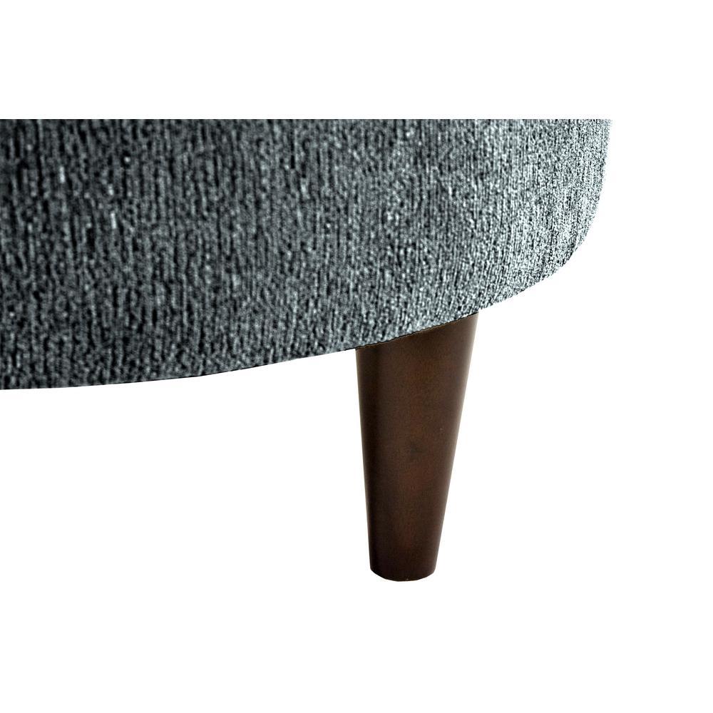 Pleasing Sophia Text2 Olivia Charcoal Round Upholstered Ottoman Ibusinesslaw Wood Chair Design Ideas Ibusinesslaworg
