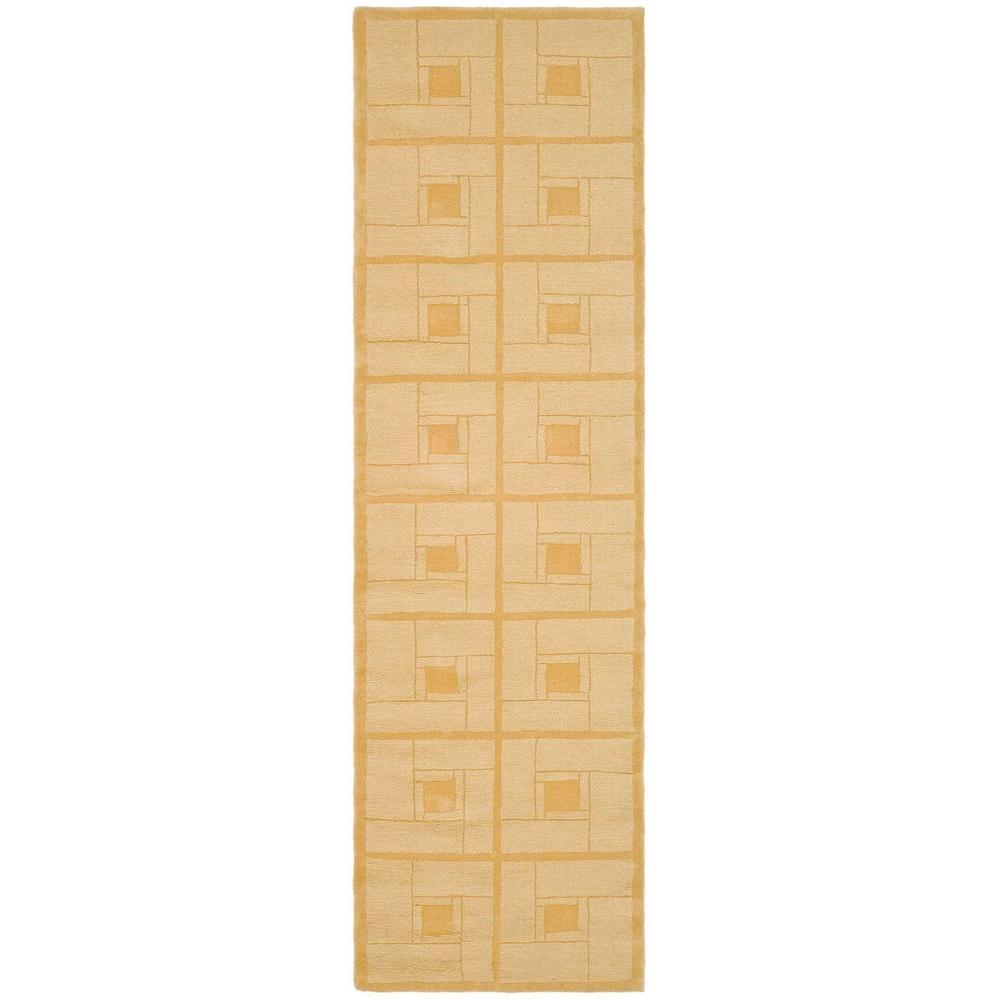 Martha Stewart Living Square Knot Corkboard 2 ft. 3 in. x 8 ft. Rug Runner