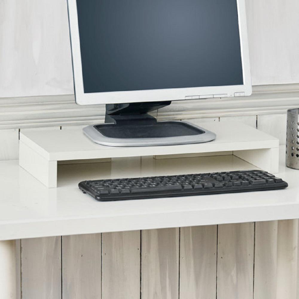 zBoard Eco Computer Monitor Stand in White