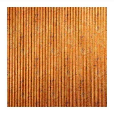 Rib - 2 ft. x 2 ft. Lay-in Ceiling Tile in Muted Gold