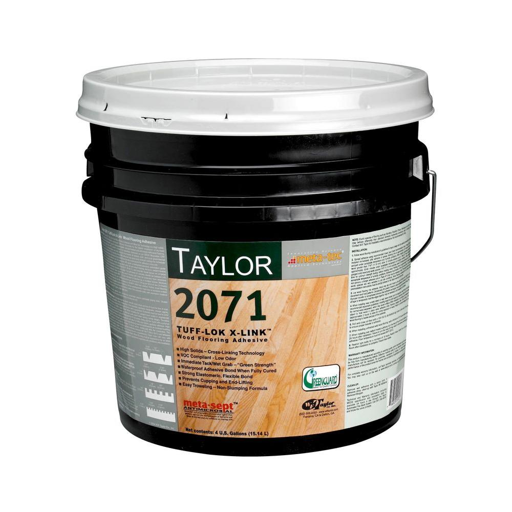 taylor 2071 4 gal tuff lok x link wood flooring adhesive 2071 4 the home depot. Black Bedroom Furniture Sets. Home Design Ideas