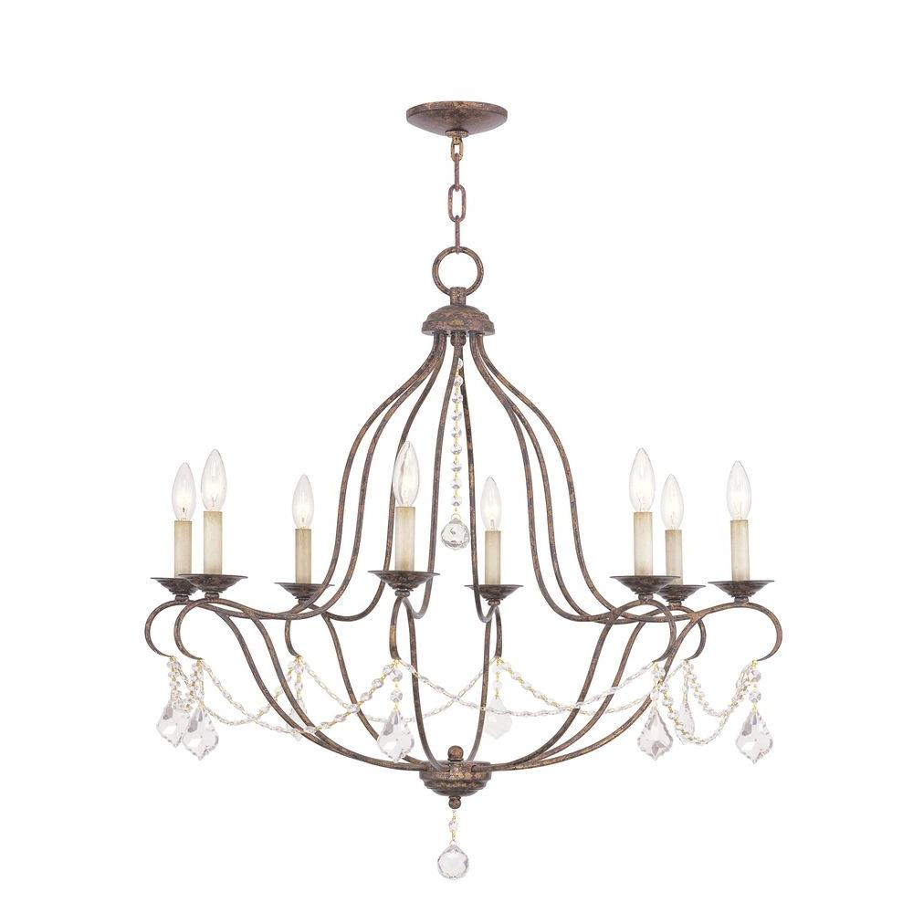 Venetian Bronze Chandelier: Livex Lighting Providence 8-Light Venetian Golden Bronze