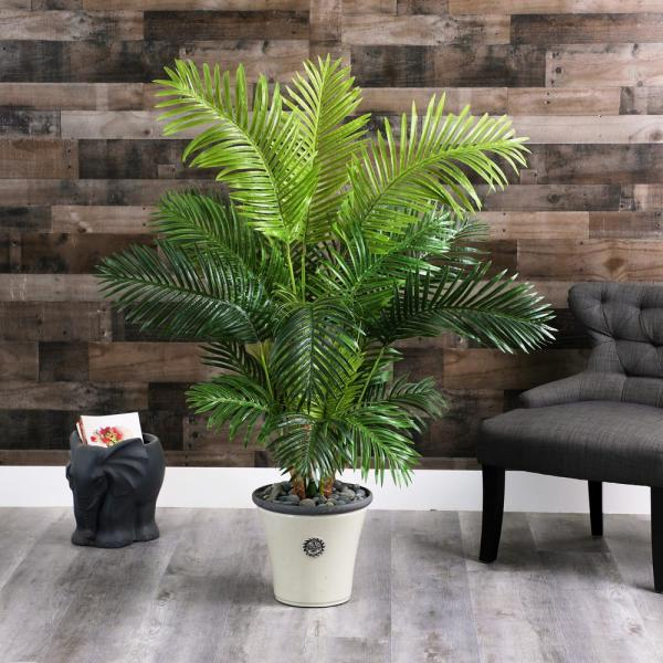 62 in. Hawaii Palm Artificial Tree in Decorative Planter