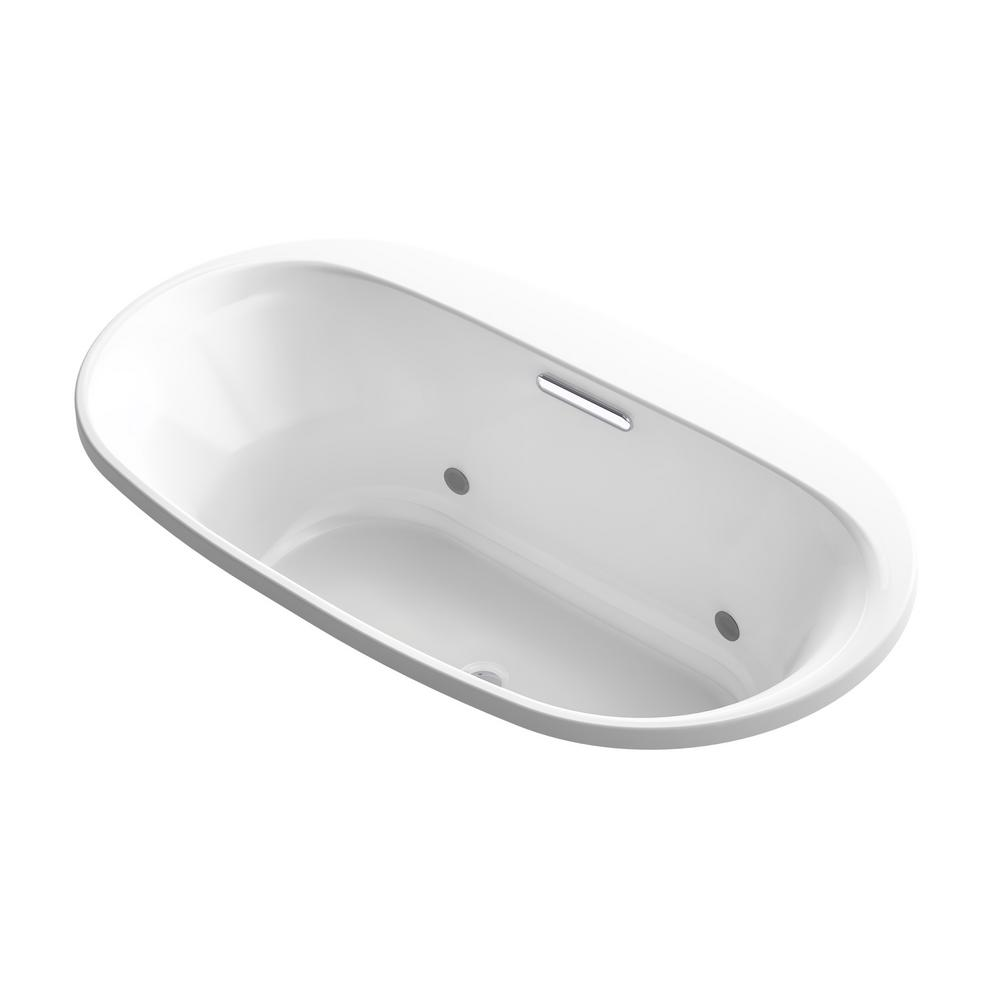 Underscore 5.5 ft. Acrylic Oval Drop-in Rectangular VibrAcoustic Non-Whirlpool