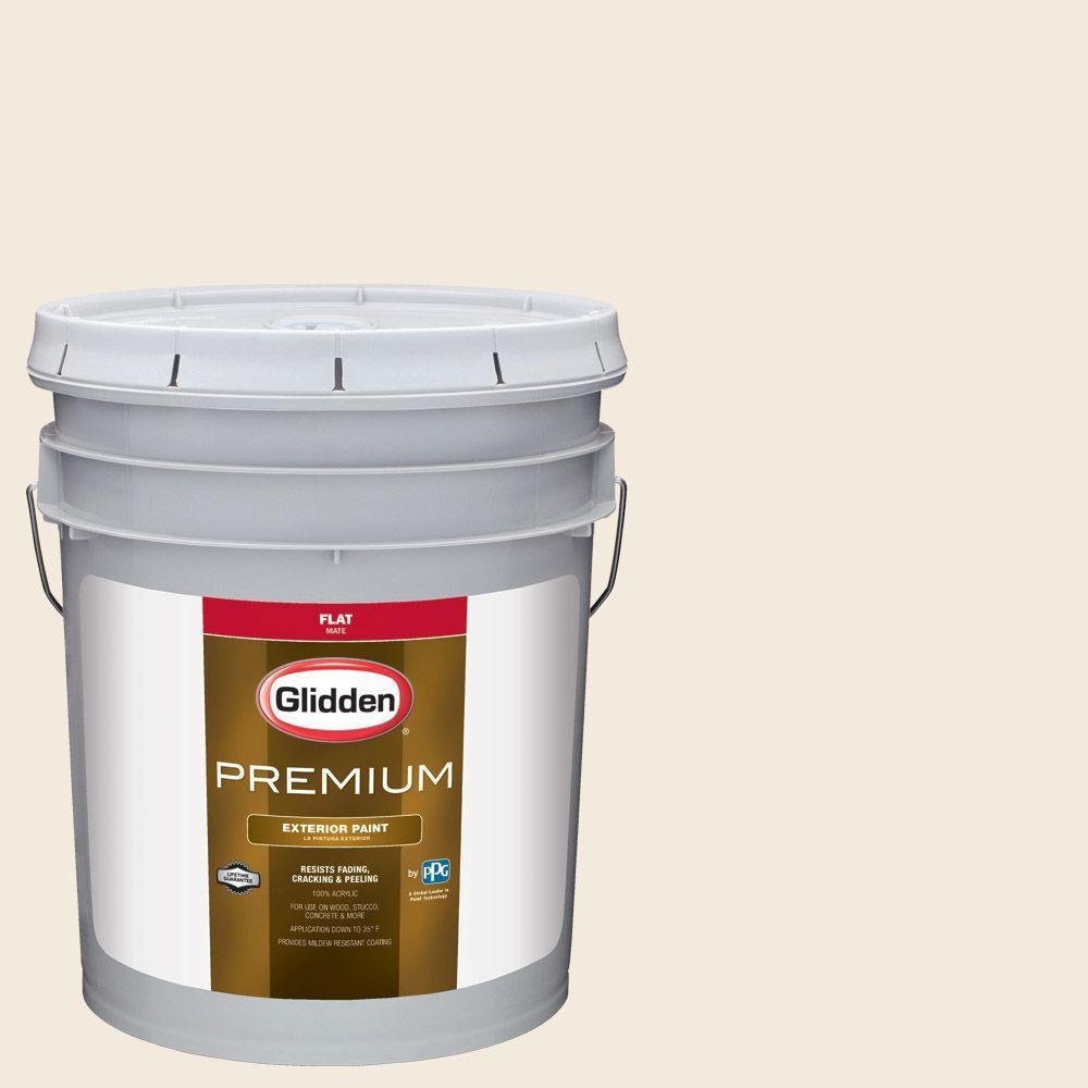 5-gal. #HDGO56U Pebble White Flat Latex Exterior Paint