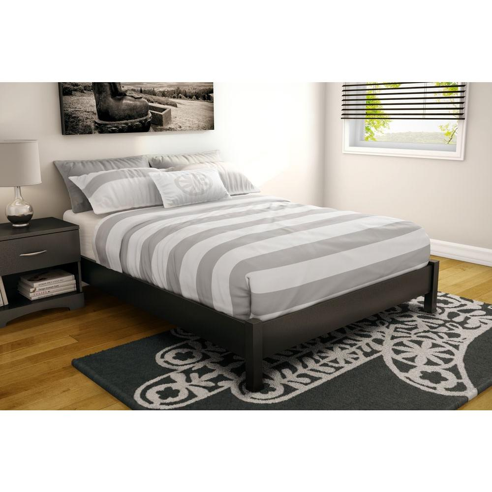 South S Step One Full Size Platform Bed In Pure Black