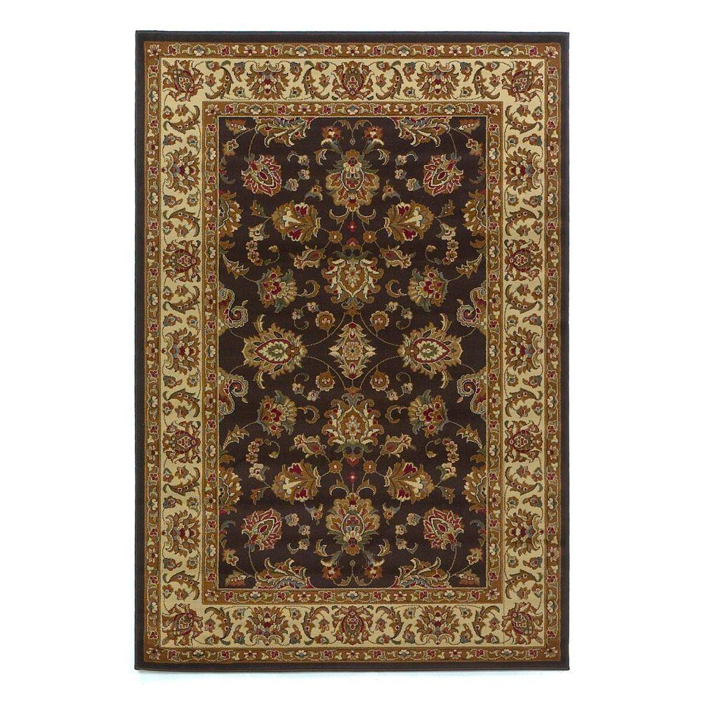 Kas Rugs Imperial Tradition Mocha/Ivory 3 ft. 11 in. x 5 ft. 3 in. Area Rug