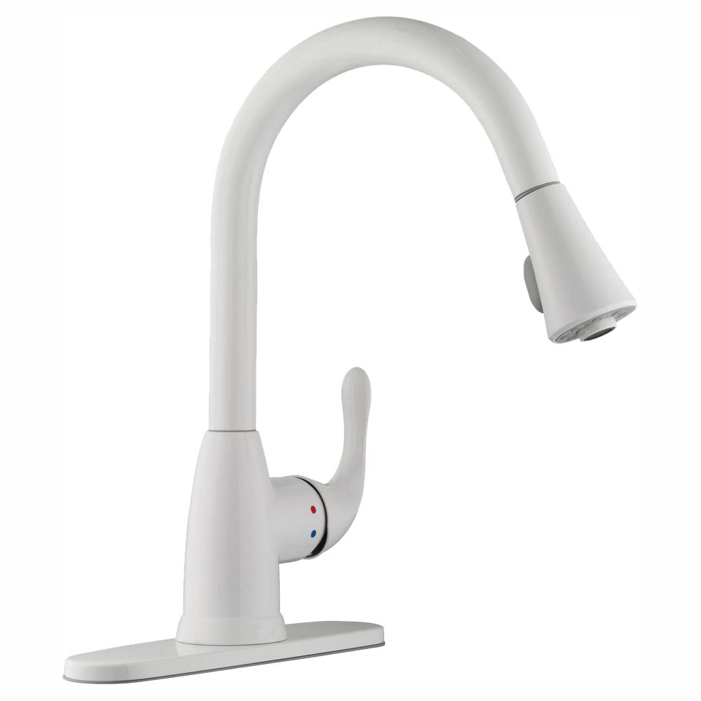 Glacier Bay Market Single Handle Pull Down Kitchen Faucet