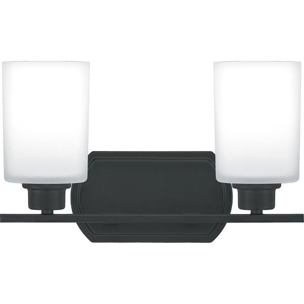 Pruitt 2-Light Matte Black Vanity Light