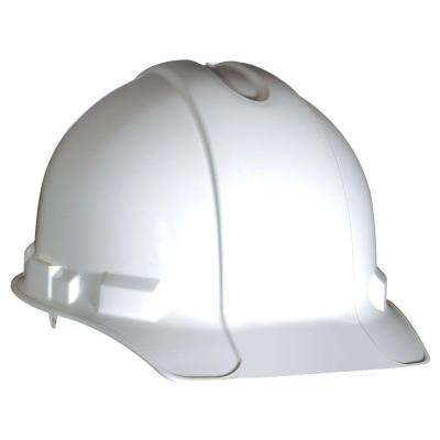 White Hard Hat with Pin-Lock Adjustment (Case of 12)